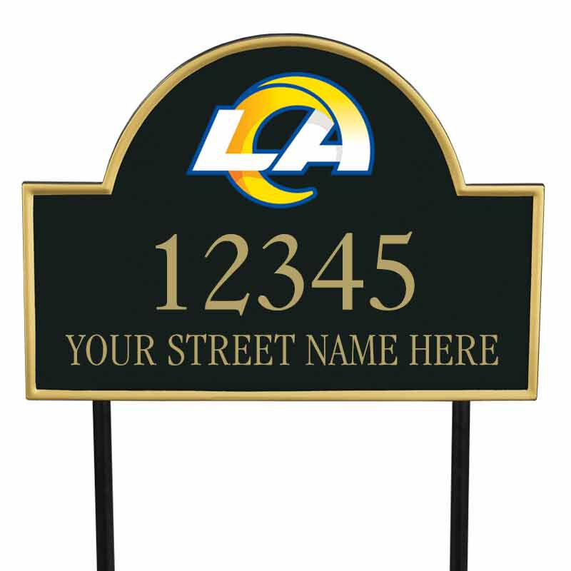 The NFL Personalized Address Plaque 5463 0355 x rams