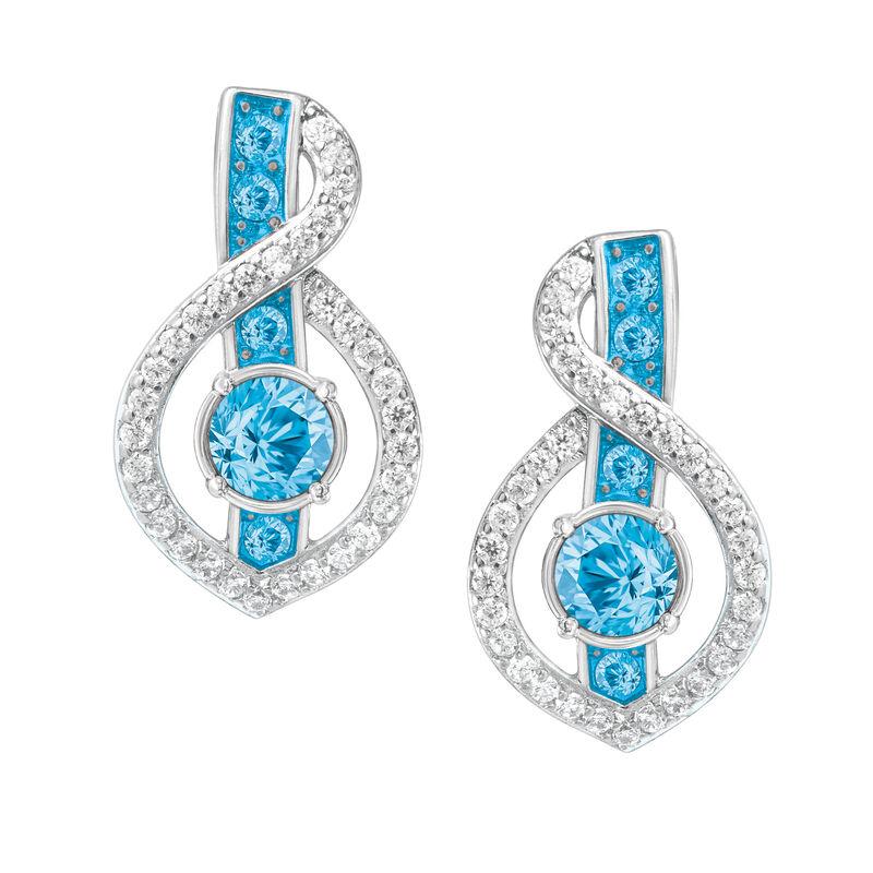 Birthstone Wave Earrings 2202 0069 c march