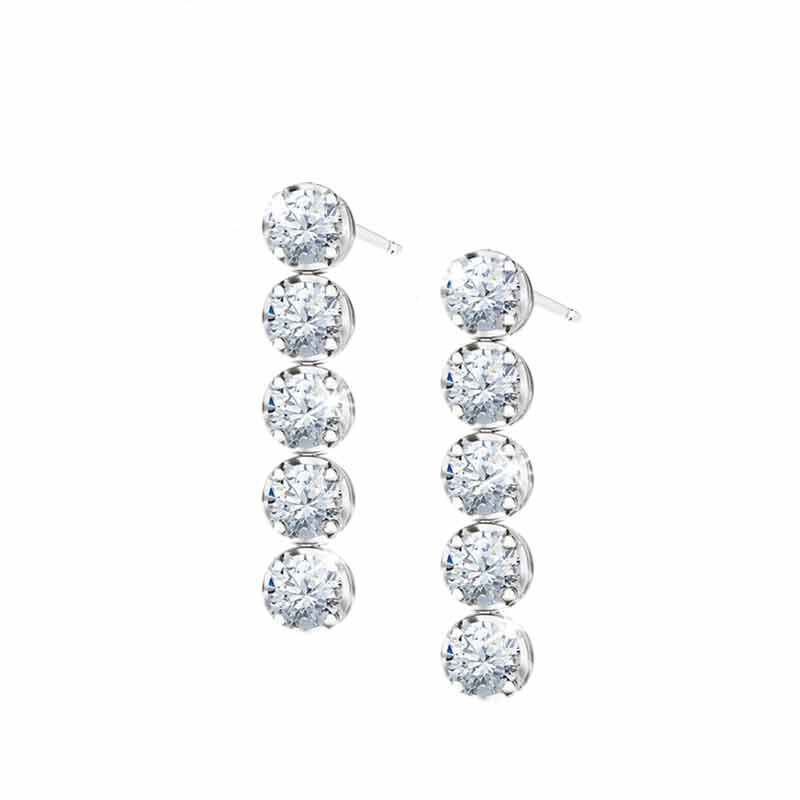 Wondrous Waterfalls Diamonisse Earring and Pendant Set 0839 003 1 3