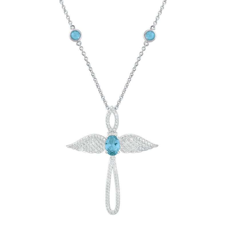 Touched by an Angel Birthstone Necklace 6842 0017 c march