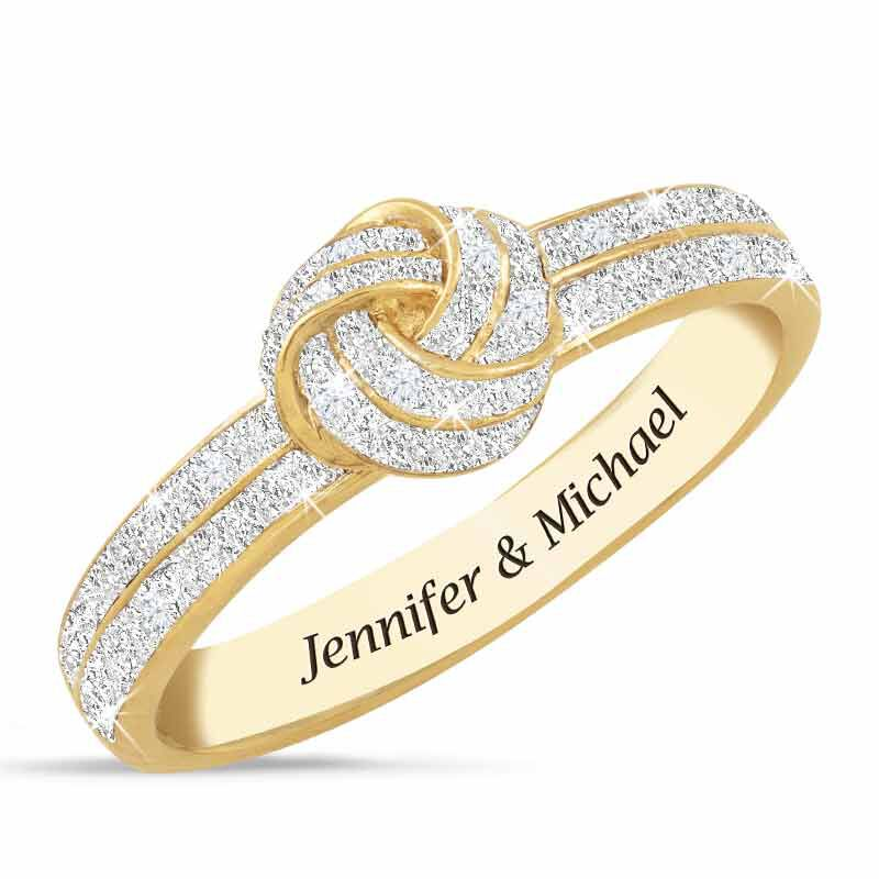 Diamond Love Knot Personalized Ring 2113 001 8 1