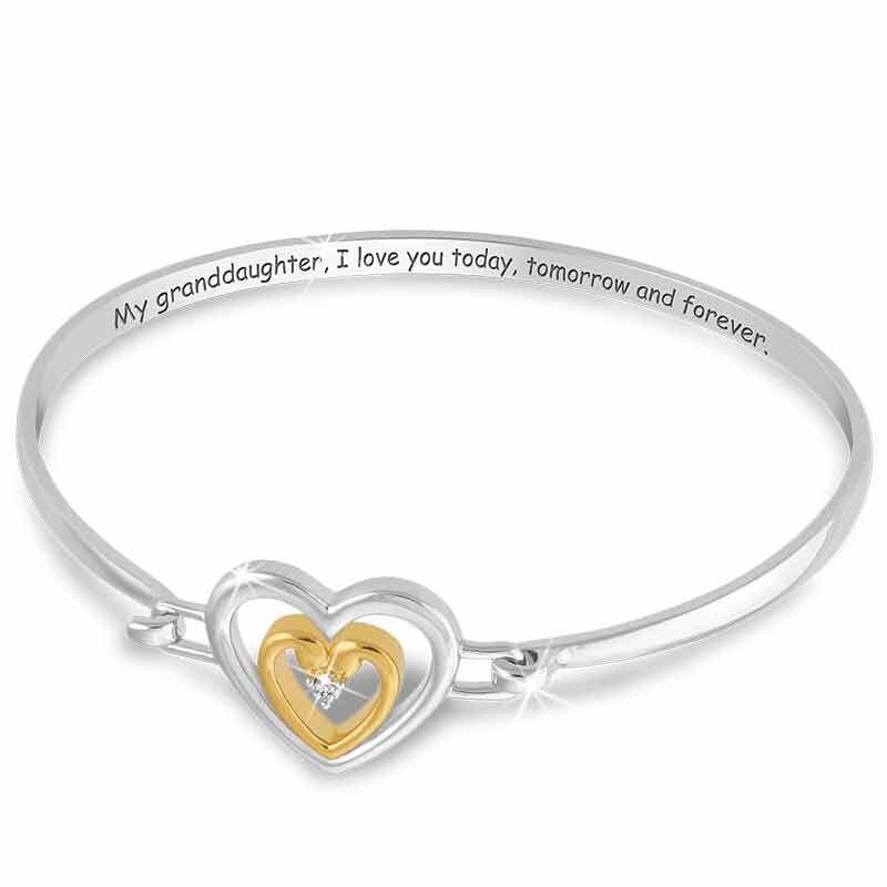 Granddaughter I Love You Diamond Bracelet 2458 001 1 3