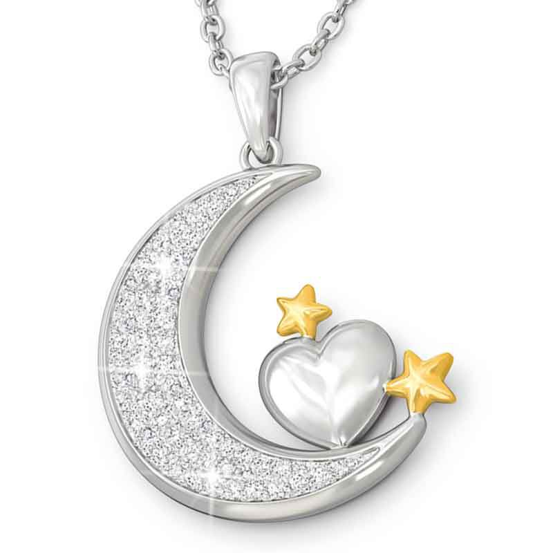 My Granddaughter I Love You to the Moon and Back Pendant 4507 002 6 1