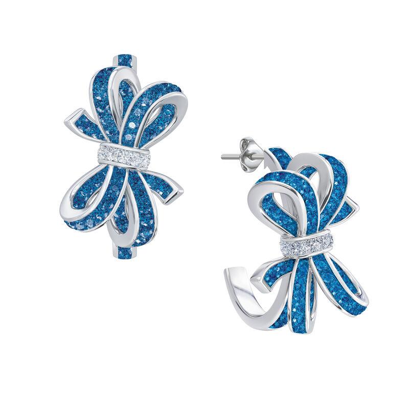Birthstone Diamond Bow Earrings 1876 0066 l december