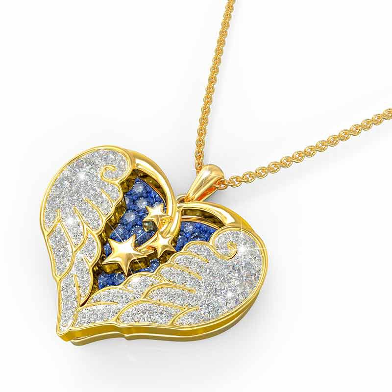 On Angel Wings Remembrance Pendant 6479 001 7 3