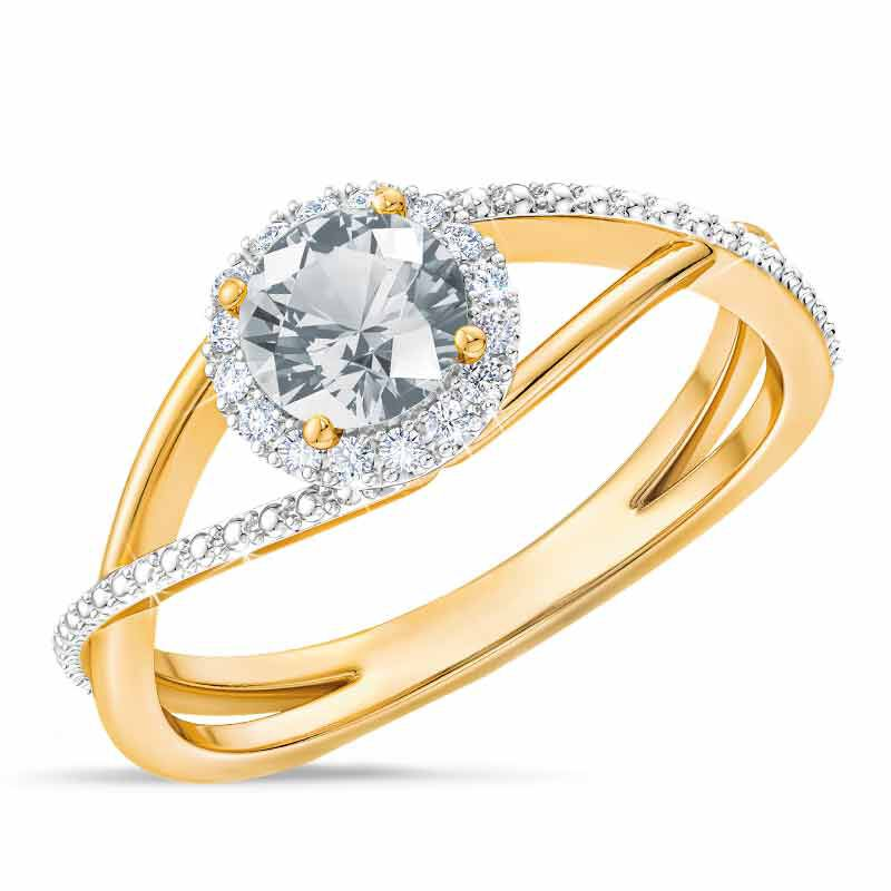 Birthstone  Diamond Ring 1099 001 8 4