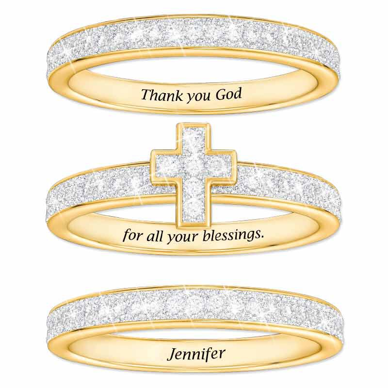 Blessed Stackable Diamond Ring Set 5279 002 9 2