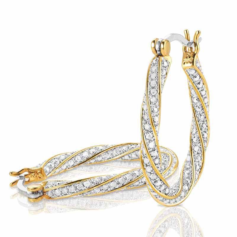 Dazzling Diamond Swirl Hoops 6207 001 6 2