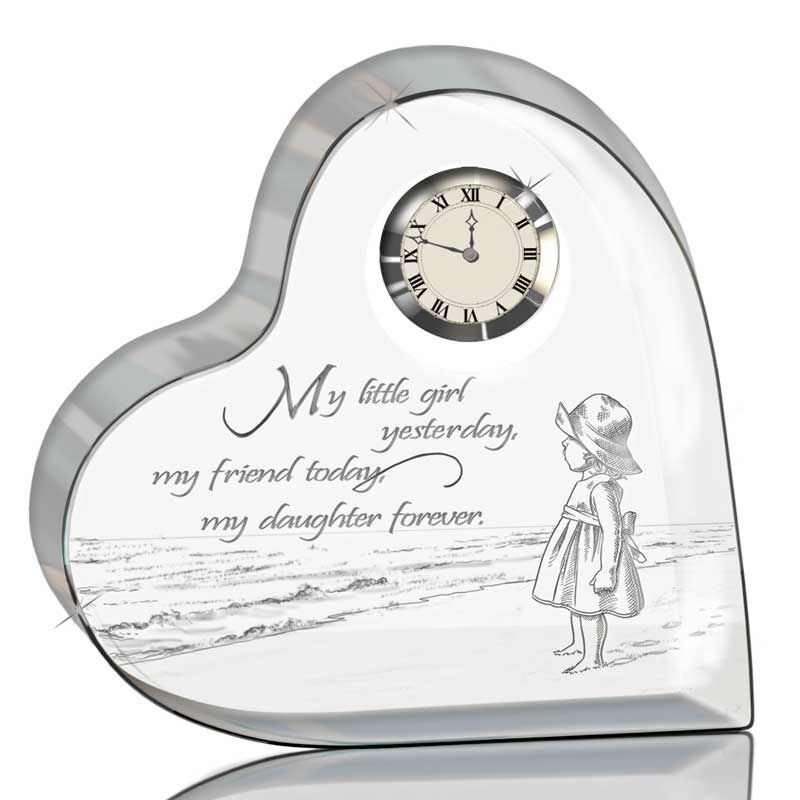 My Daughter Forever Crystal Desk Clock 4257 007 7 1