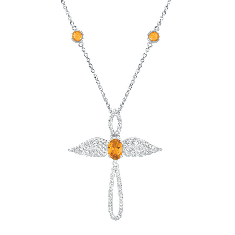 Touched by an Angel Birthstone Necklace 6842 0017 k november