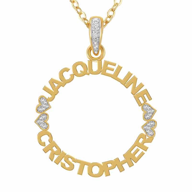 Personalized Eternal Love Diamond Pendant 6474 001 2 1