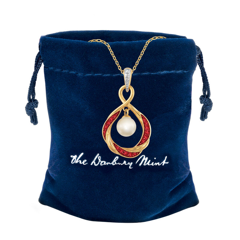 The Pearl Birthstone Pendant 6901 0015 g gift pouch