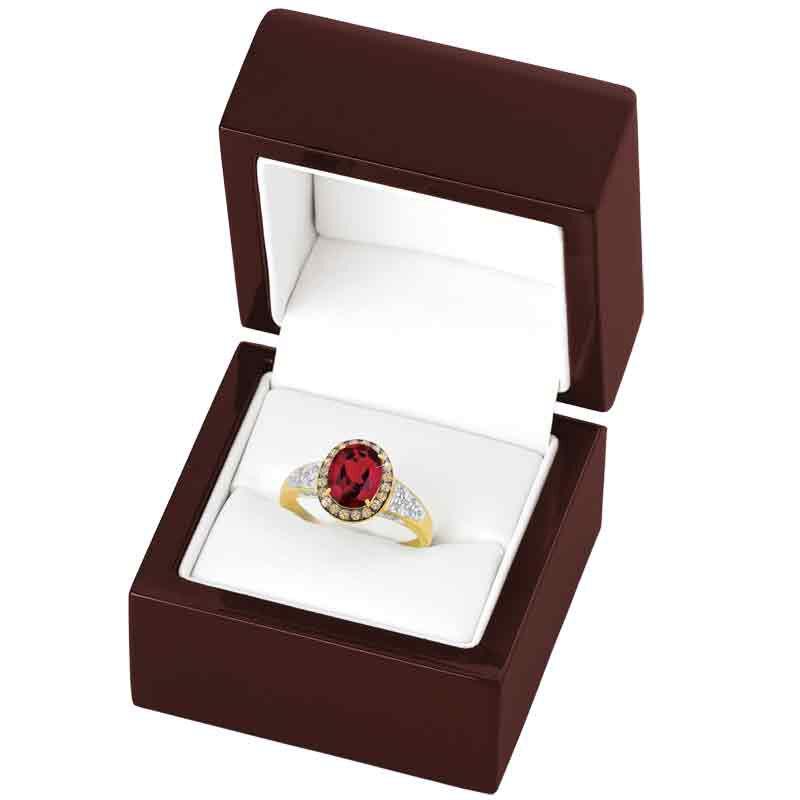 Crimson Majesty 14kt Garnet  Diamond Ring 1881 001 0 2