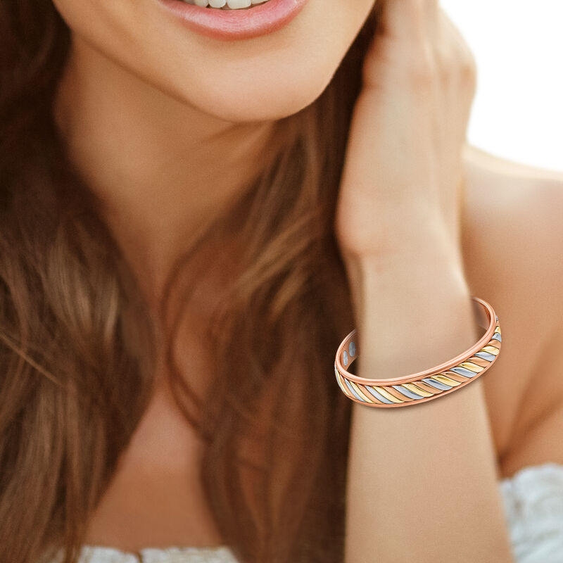 Strong Beautiful Loved Daughter Copper Bangle 10173 0018 m model
