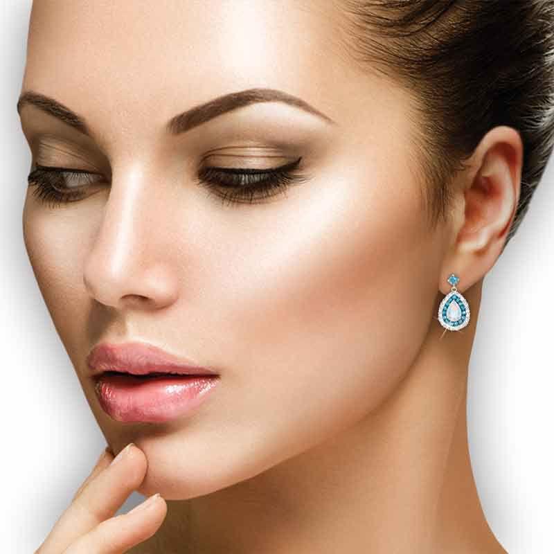 Drops of Splendor Opal  Topaz Earrings 2110 001 1 2