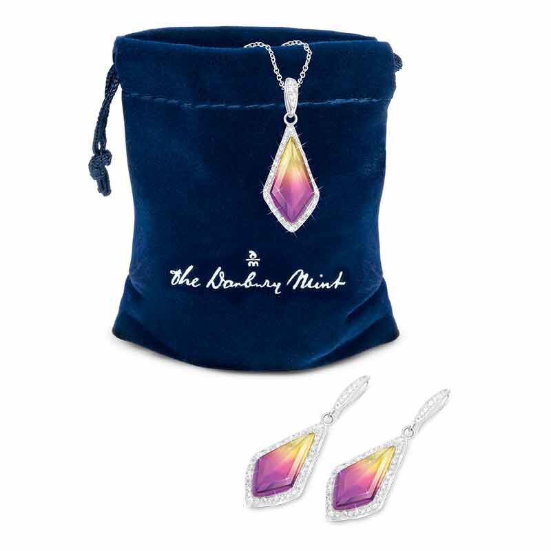 Sunset Splendor Pendant  Earrings Set 2146 001 9 2