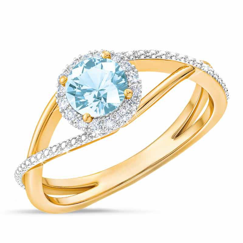 Birthstone  Diamond Ring 1099 001 8 3