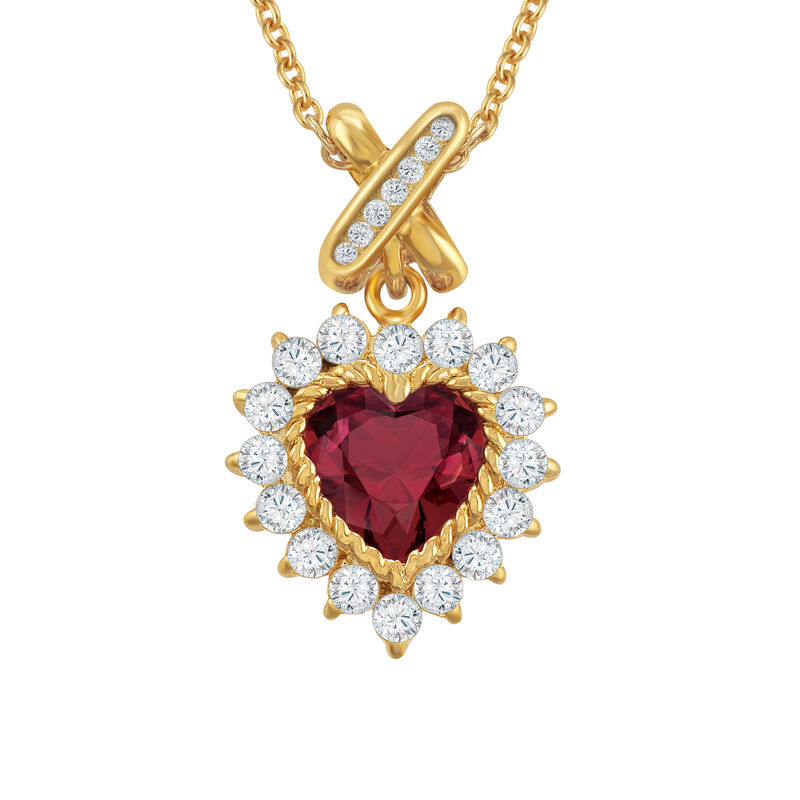 Perfectly Paired Heart Pendant and Earring Set 6574 0011 b pendant