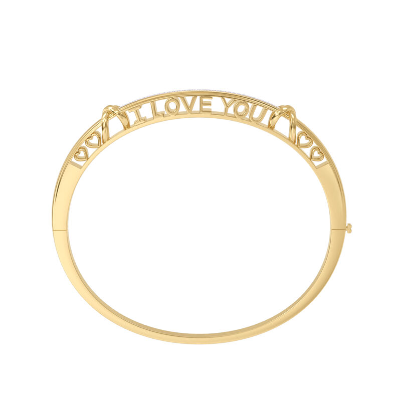 I Love You Diamond Kiss Bangle 10100 0016 b stright