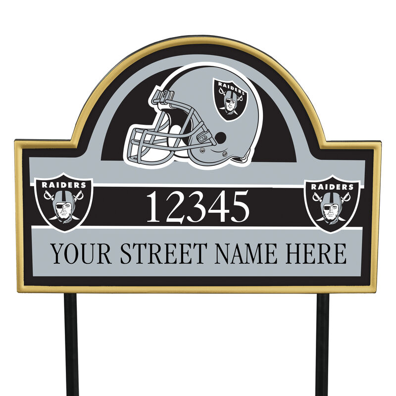 NFL Pride Personalized Address Plaques 5463 0405 a raiders