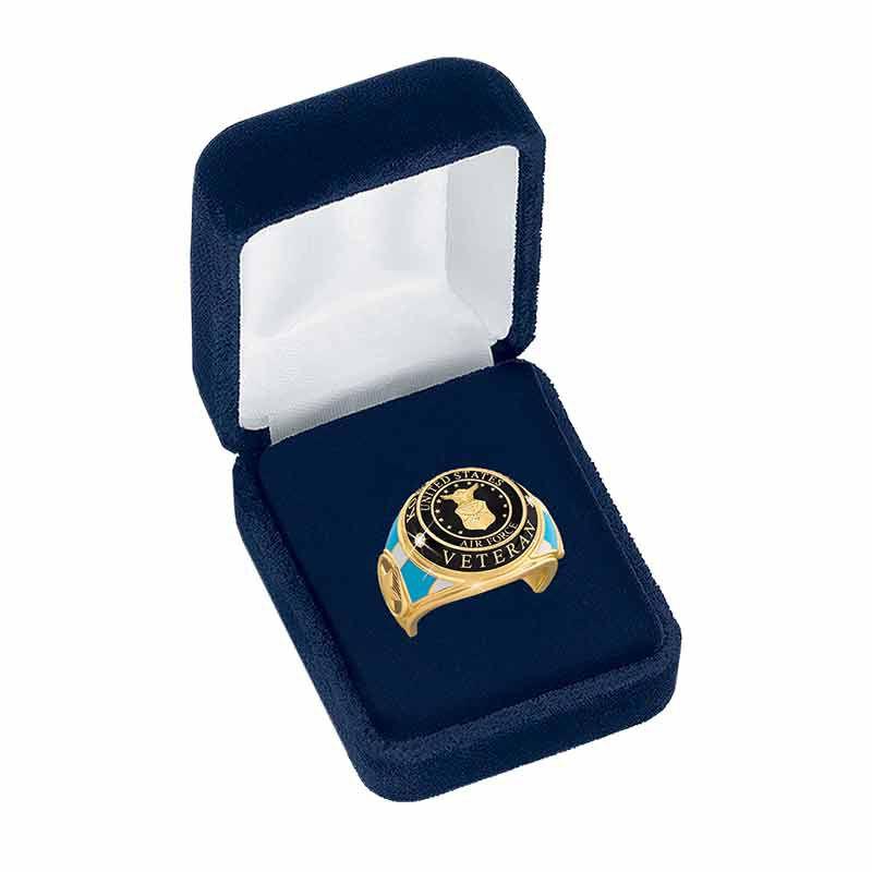 US Air Force Veteran Ring 1861 004 8 5