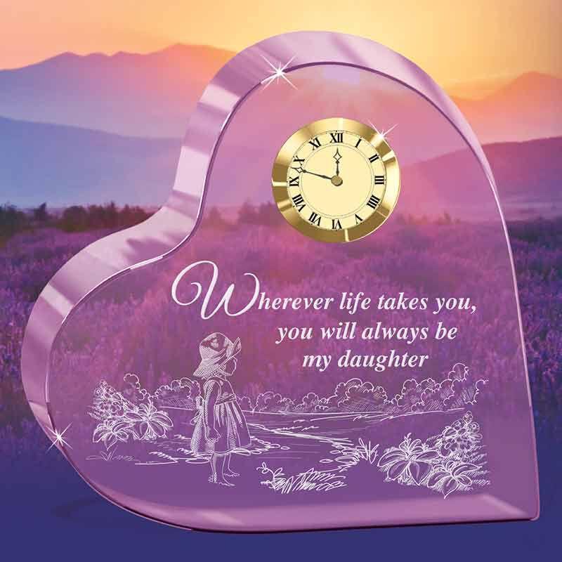 Always My Daughter Crystal Desk Clock 6082 001 6 2