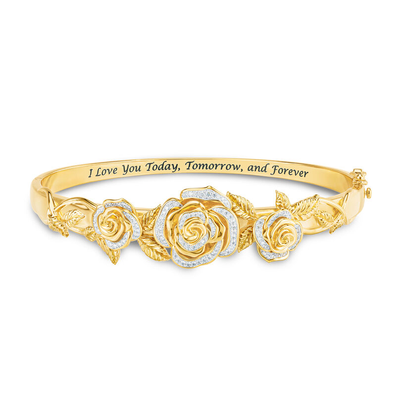 Today Tomorrow Forever Diamond Rose Bangle 10186 0013 a main