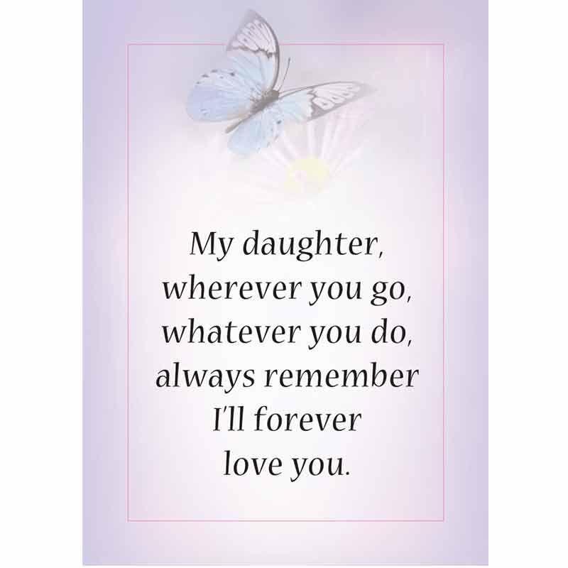 My Daughter Forever Floral Ceramic Vase 6113 001 9 3