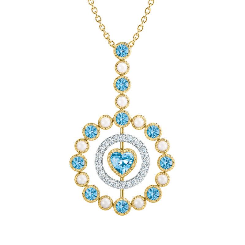 Love Embrace Birthstone Diamond Necklace 6928 0014 l december
