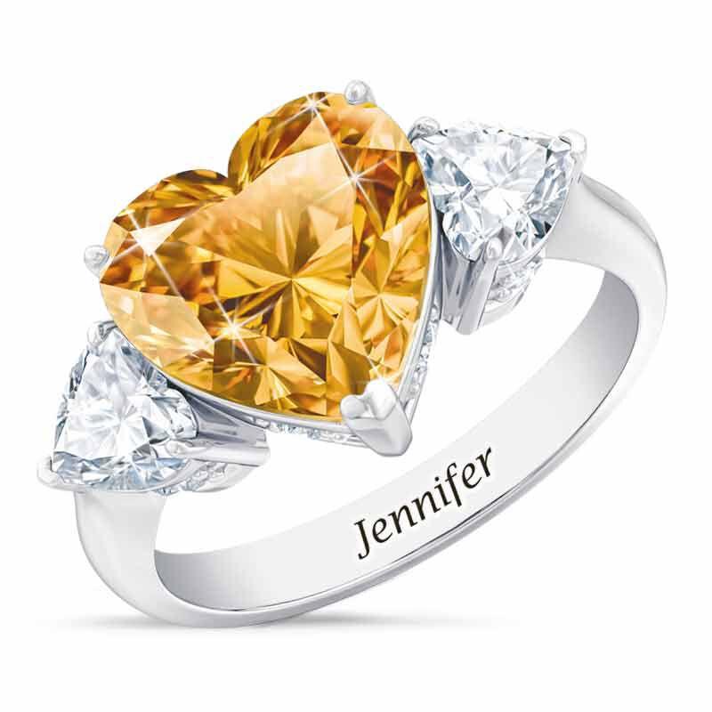 Birthstone Triple Heart Ring 1516 001 3 11