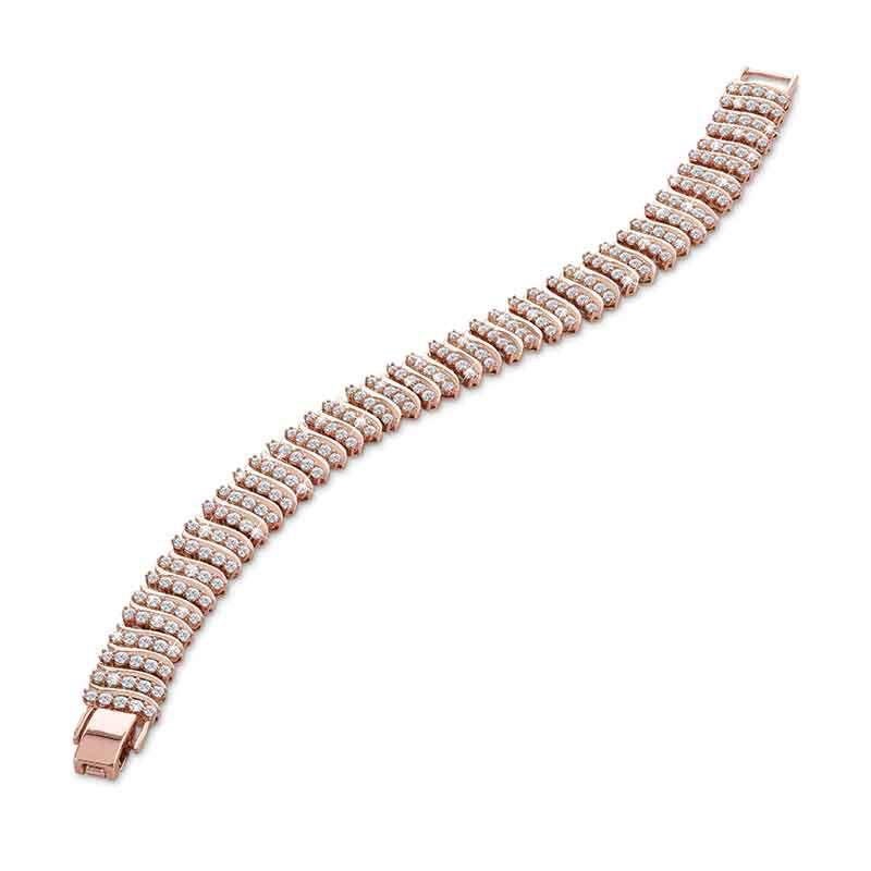 Captivating in Copper Simulated Diamond Bracelet 6576 001 9 2