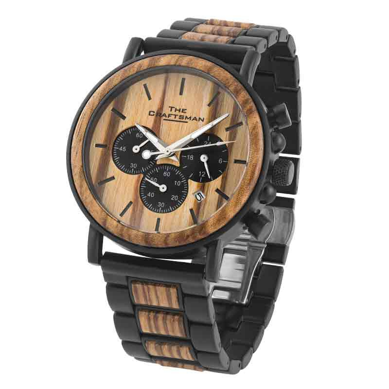 The Craftsman Mens Wooden Chronograph 4915 001 4 1
