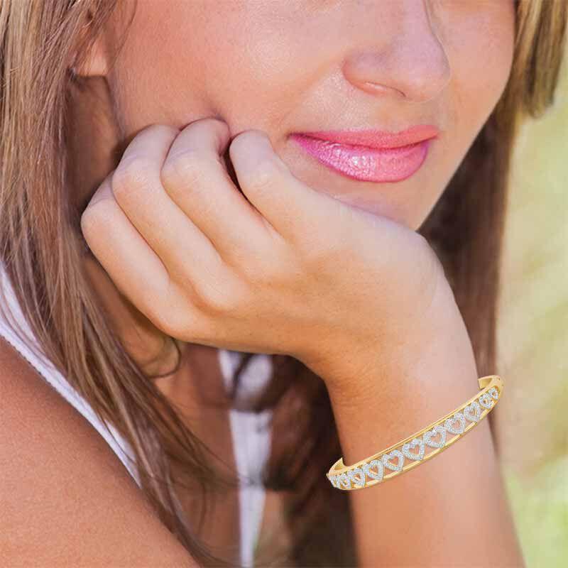 My Daughter Forever Diamond Bangle 5120 001 2 3