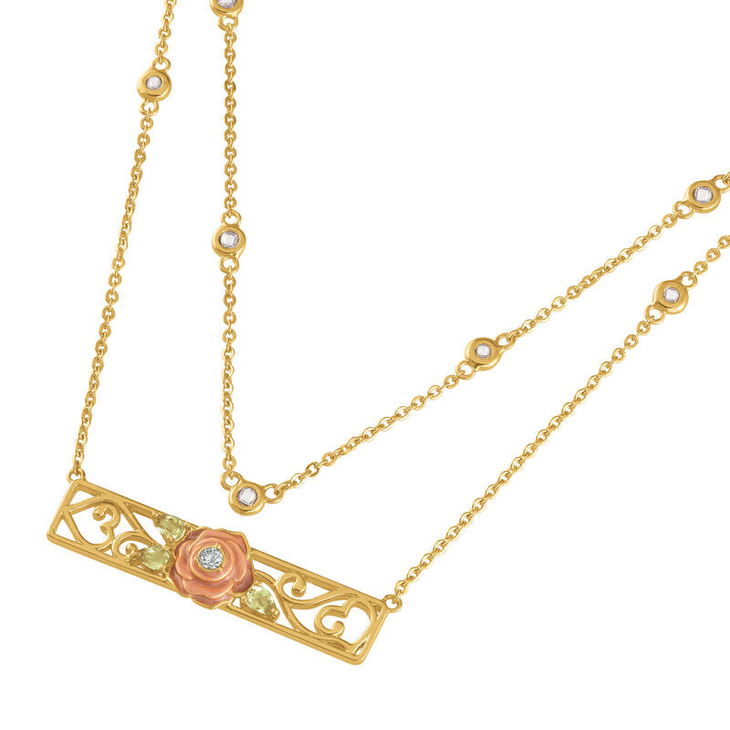 I Will Always Love You Layered Daughter Rose Necklace with card 6770 001 3 2