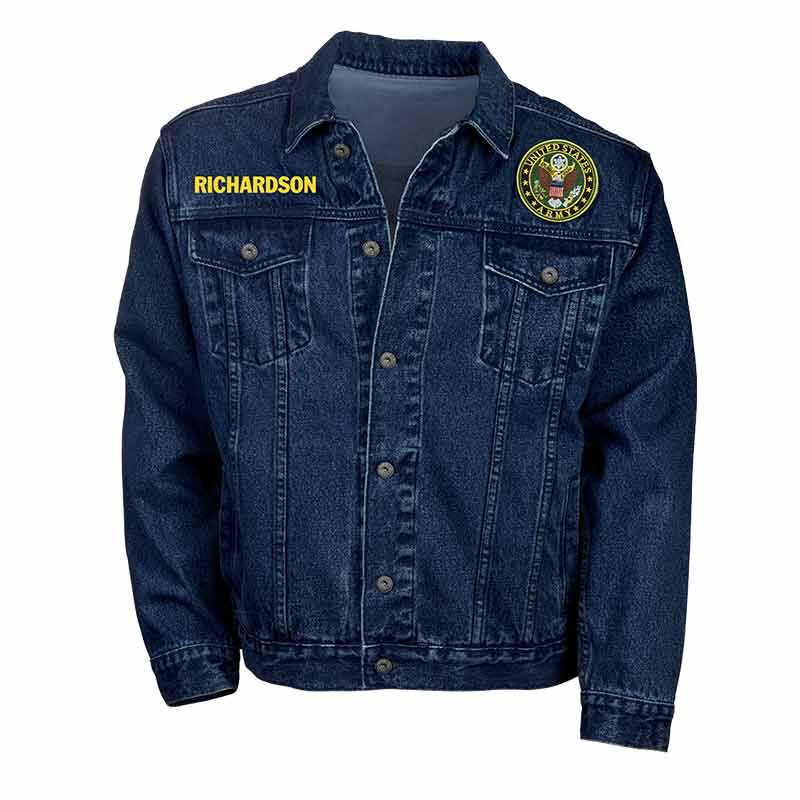 The Personalized Mens US Army Denim Jacket 1365 001 5 1