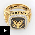 Personalized U.S. Army Ring--Size 7, , video-thumb