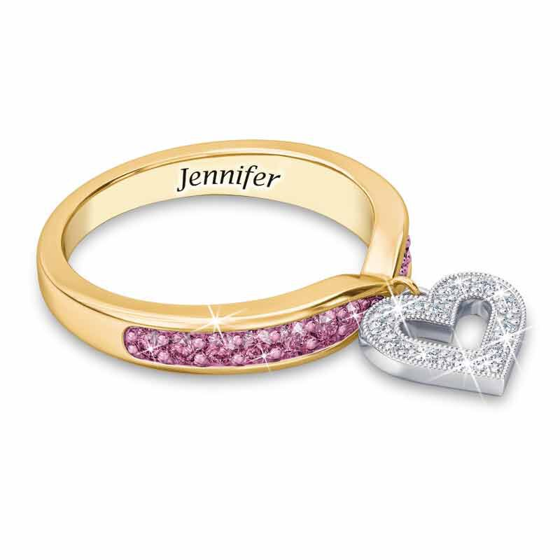 Birthstone  Diamond Charm Ring 2145 002 8 10