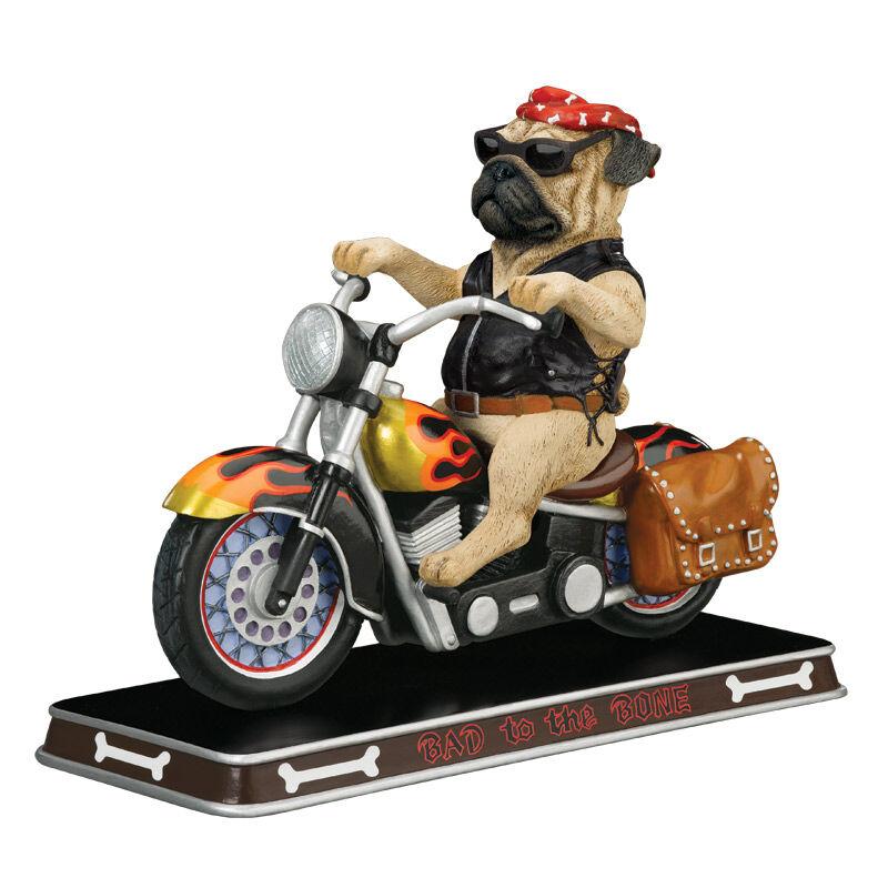 Bad to the Bone Pug Sculpture 2763 003 7 1