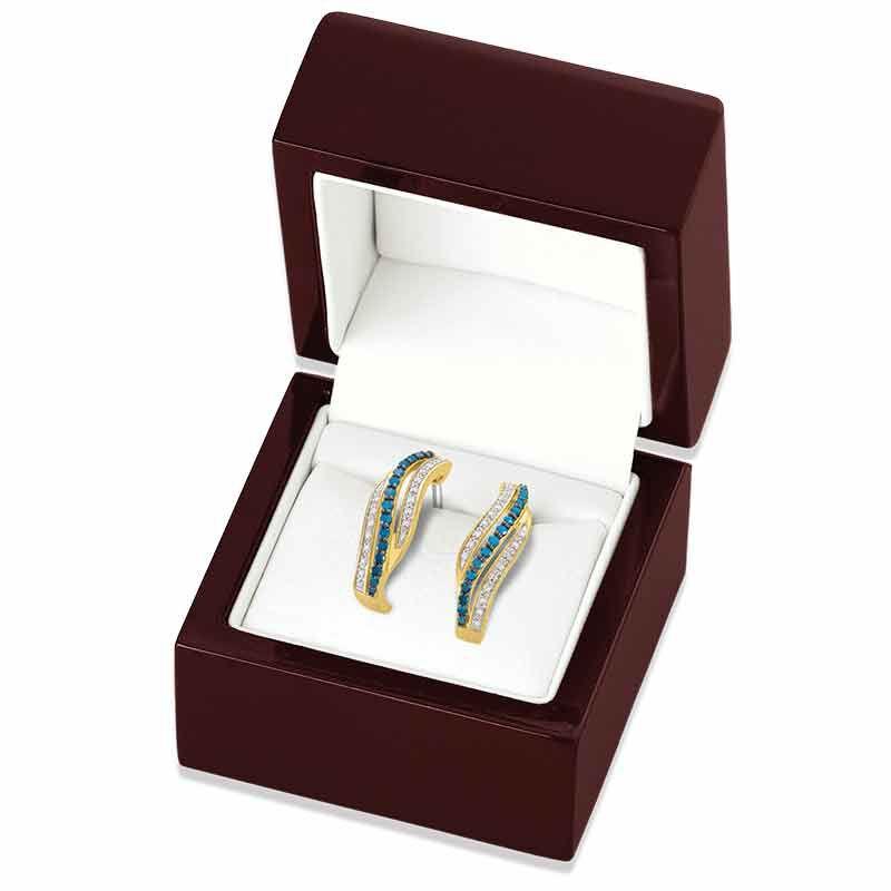 Blue Swirl Diamond Earrings 6451 001 9 3