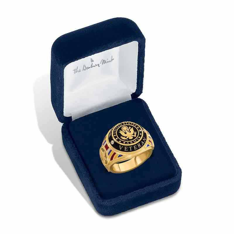 US Army Veteran Ring 1861 001 4 5