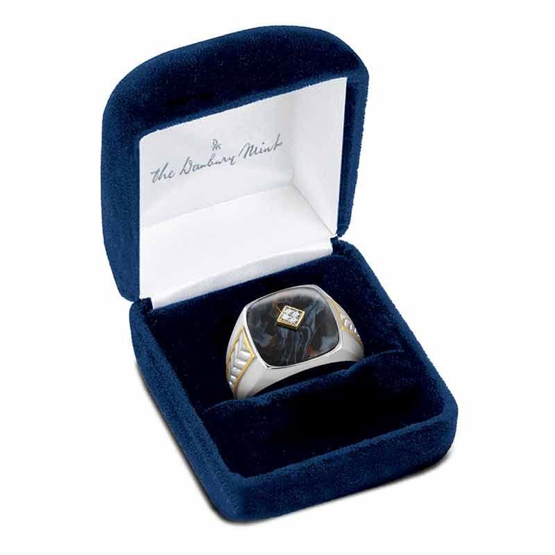Eye of the Storm Pietersite  Diamond Ring 4951 001 9 4