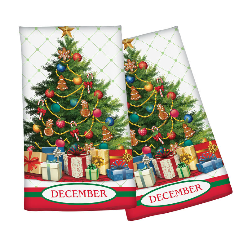 Year of Cheer Kitchen Towel Collection 6844 0015 h december