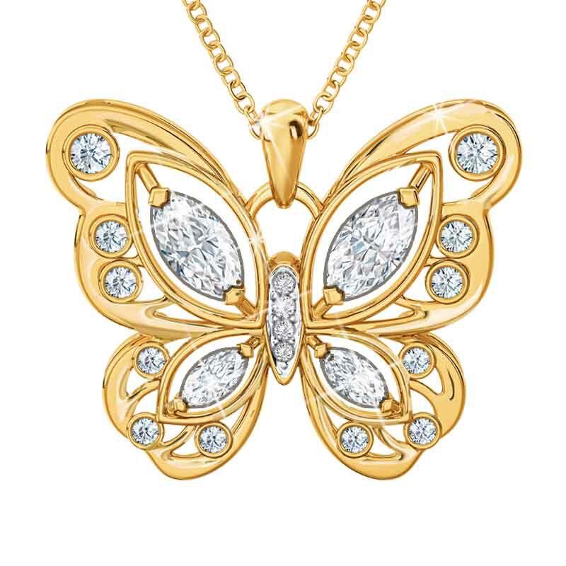 The Birthstone Butterfly Diamond Pendant 2030 001 8 4