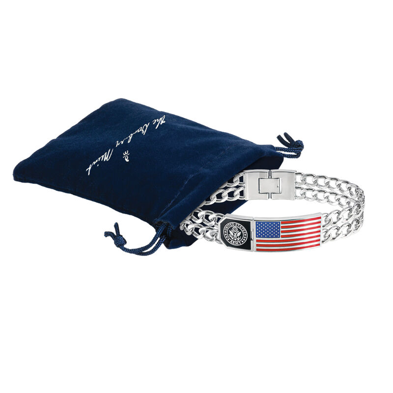 American Patriot Army Bracelet 10155 0010 g gift pouch