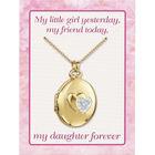 My Daughter Forever Diamond Locket 10216 0025 e card