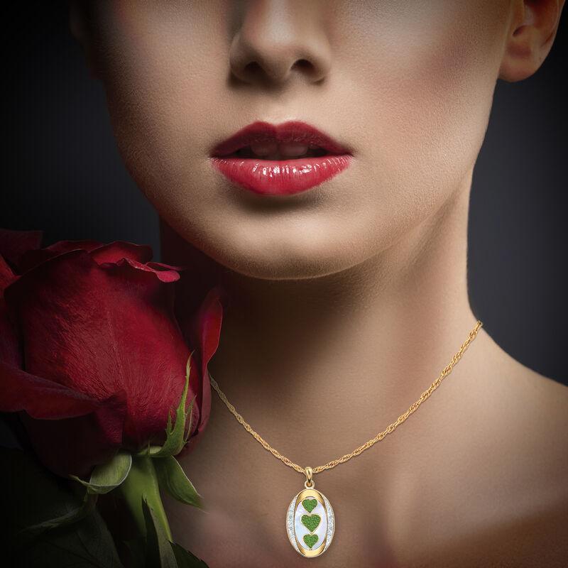 I Love You Custom Birthstone and Diamond Pendant 10702 0018 o model