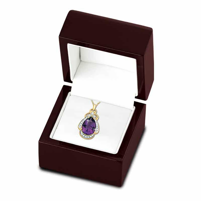 Amethyst  Diamond Pendant 3981 001 5 2