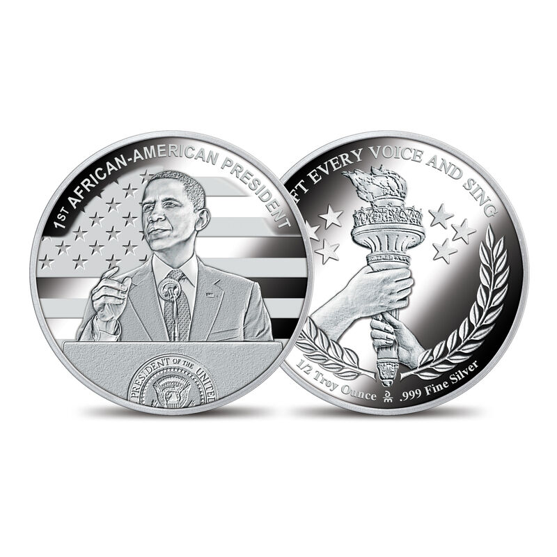 The American Civil Rights Silver Bullion Commemoratives 10123 0019 d AframPresidentcomemmorative