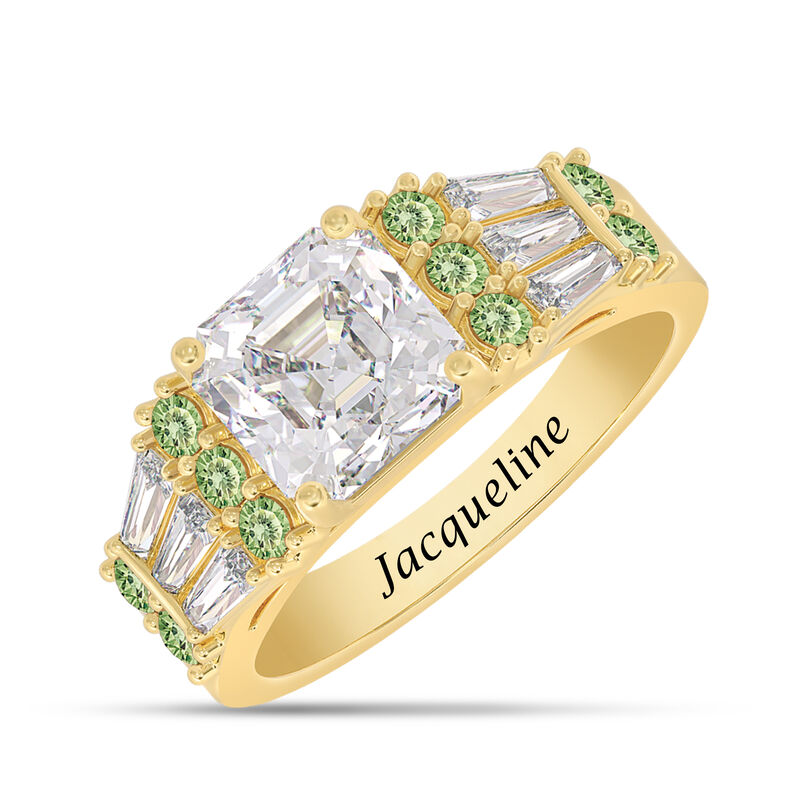 Birthstone Statement Ring 10142 0016 h august