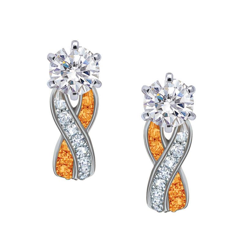 Birthstone Swirl Earrings 10115 0027 k november